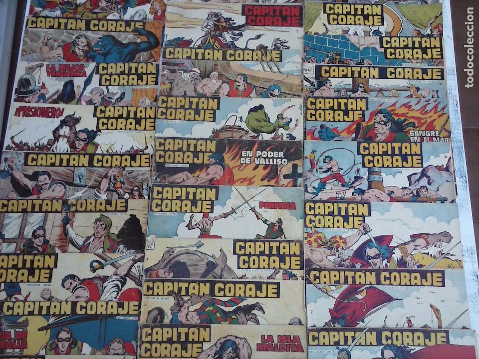 Tebeos: EL CAPITÁN CORAJE ORIGINAL TORAY 1958 COMPLETA 1 AL 44 IRANZO, SUELTA, VER TODAS LAS PORTADAS - Foto 8 - 105026571