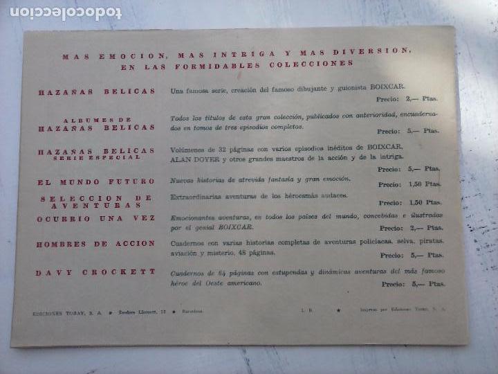 Tebeos: EL CAPITÁN CORAJE ORIGINAL TORAY 1958 COMPLETA 1 AL 44 IRANZO, SUELTA, VER TODAS LAS PORTADAS - Foto 22 - 105026571