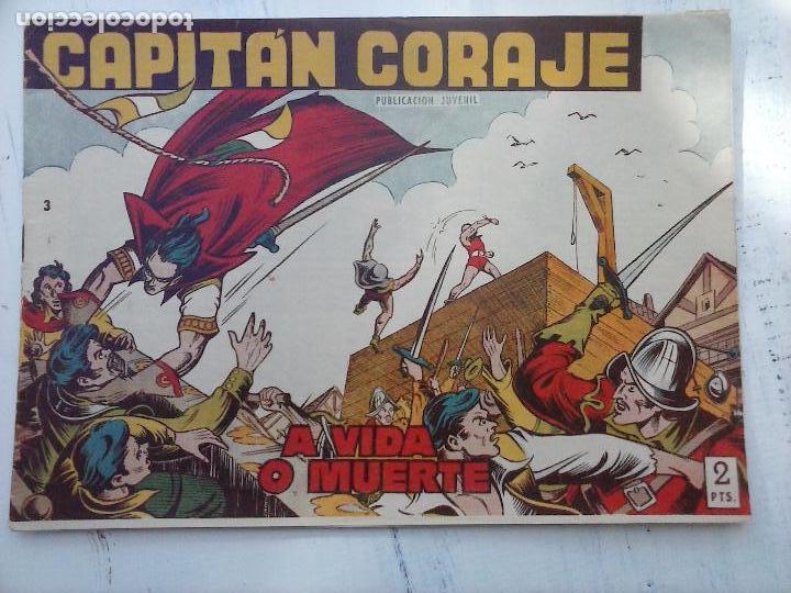 Tebeos: EL CAPITÁN CORAJE ORIGINAL TORAY 1958 COMPLETA 1 AL 44 IRANZO, SUELTA, VER TODAS LAS PORTADAS - Foto 23 - 105026571