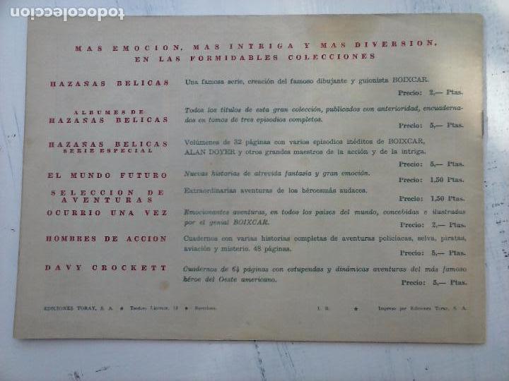 Tebeos: EL CAPITÁN CORAJE ORIGINAL TORAY 1958 COMPLETA 1 AL 44 IRANZO, SUELTA, VER TODAS LAS PORTADAS - Foto 25 - 105026571