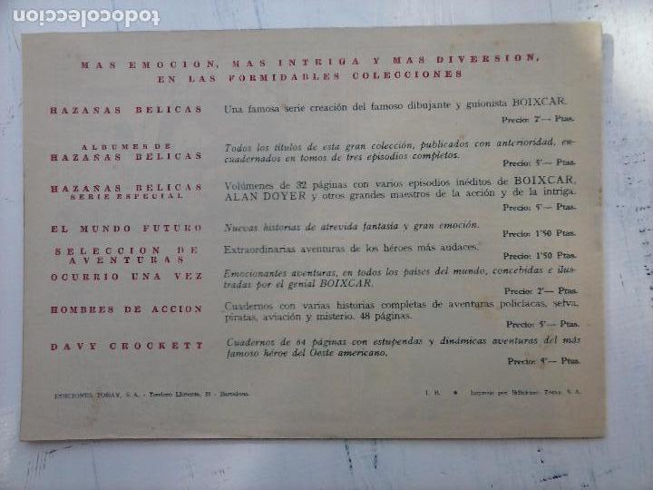 Tebeos: EL CAPITÁN CORAJE ORIGINAL TORAY 1958 COMPLETA 1 AL 44 IRANZO, SUELTA, VER TODAS LAS PORTADAS - Foto 28 - 105026571