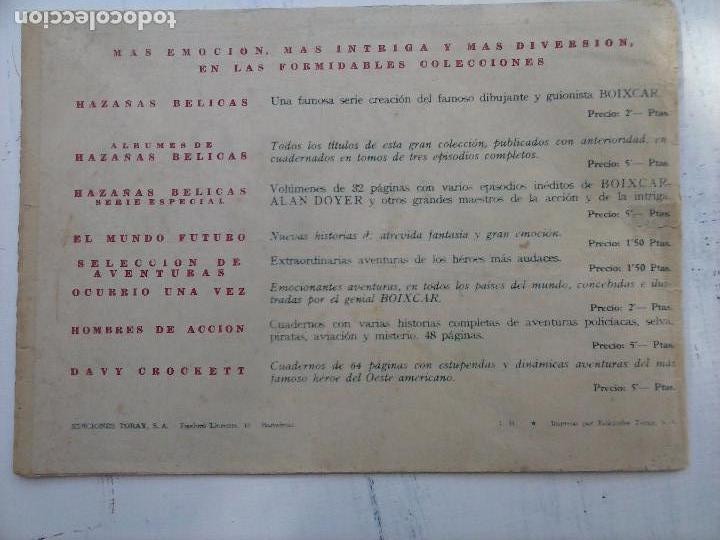 Tebeos: EL CAPITÁN CORAJE ORIGINAL TORAY 1958 COMPLETA 1 AL 44 IRANZO, SUELTA, VER TODAS LAS PORTADAS - Foto 31 - 105026571