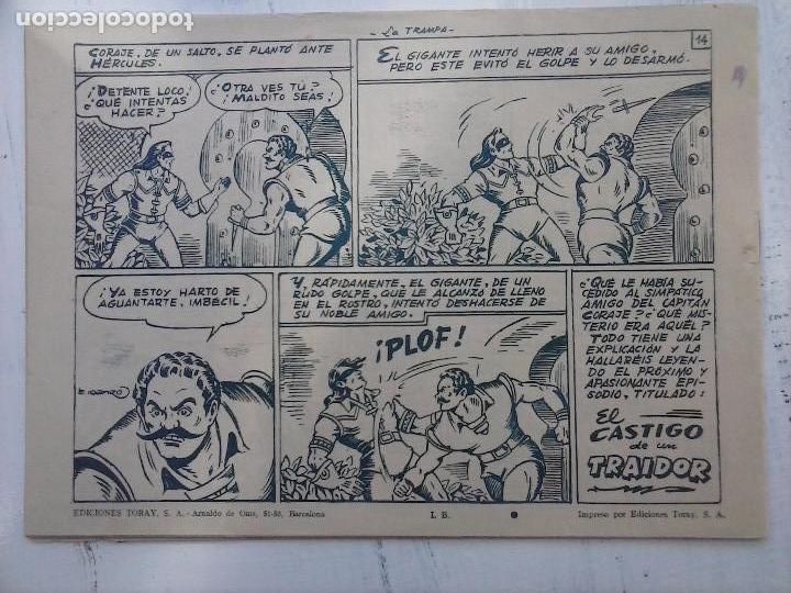 Tebeos: EL CAPITÁN CORAJE ORIGINAL TORAY 1958 COMPLETA 1 AL 44 IRANZO, SUELTA, VER TODAS LAS PORTADAS - Foto 48 - 105026571