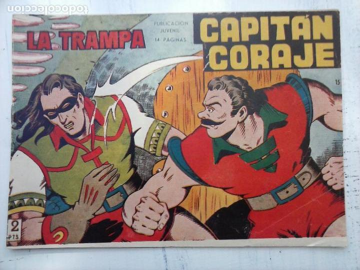 Tebeos: EL CAPITÁN CORAJE ORIGINAL TORAY 1958 COMPLETA 1 AL 44 IRANZO, SUELTA, VER TODAS LAS PORTADAS - Foto 49 - 105026571