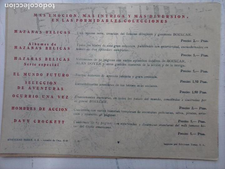 Tebeos: EL CAPITÁN CORAJE ORIGINAL TORAY 1958 COMPLETA 1 AL 44 IRANZO, SUELTA, VER TODAS LAS PORTADAS - Foto 52 - 105026571