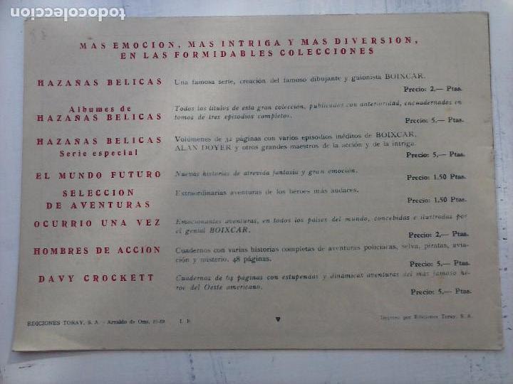 Tebeos: EL CAPITÁN CORAJE ORIGINAL TORAY 1958 COMPLETA 1 AL 44 IRANZO, SUELTA, VER TODAS LAS PORTADAS - Foto 57 - 105026571