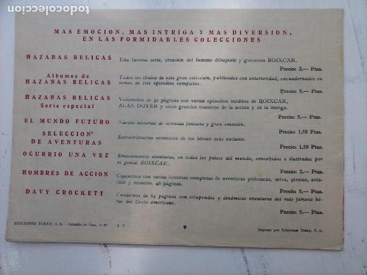Tebeos: EL CAPITÁN CORAJE ORIGINAL TORAY 1958 COMPLETA 1 AL 44 IRANZO, SUELTA, VER TODAS LAS PORTADAS - Foto 60 - 105026571