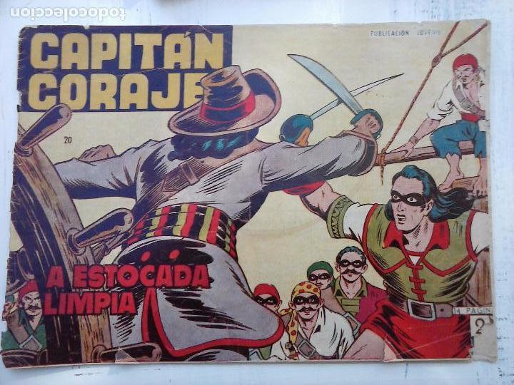Tebeos: EL CAPITÁN CORAJE ORIGINAL TORAY 1958 COMPLETA 1 AL 44 IRANZO, SUELTA, VER TODAS LAS PORTADAS - Foto 61 - 105026571