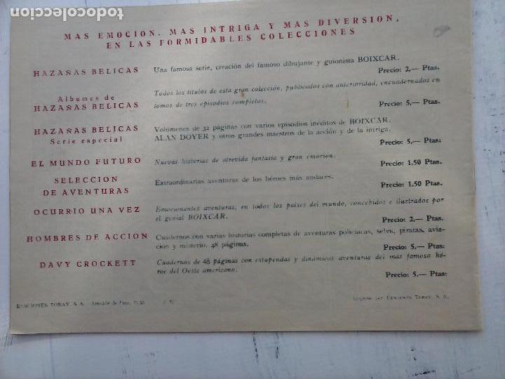 Tebeos: EL CAPITÁN CORAJE ORIGINAL TORAY 1958 COMPLETA 1 AL 44 IRANZO, SUELTA, VER TODAS LAS PORTADAS - Foto 63 - 105026571