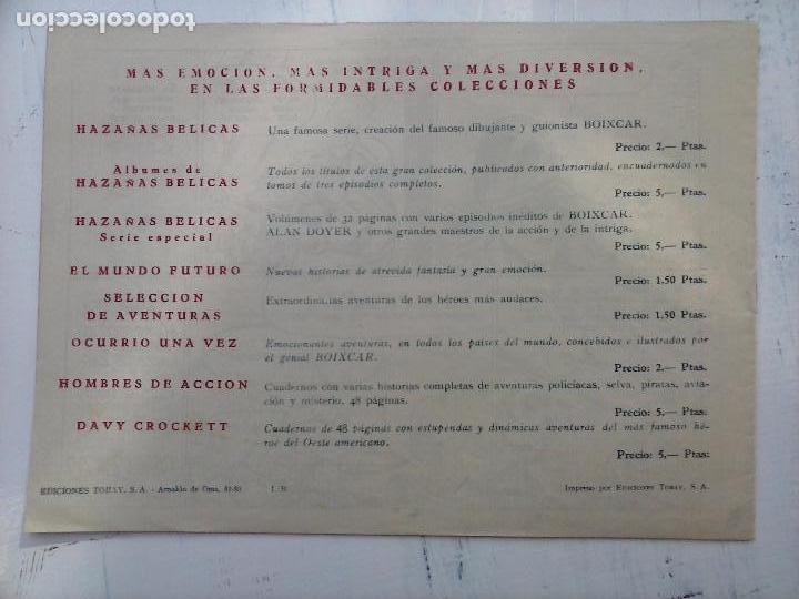 Tebeos: EL CAPITÁN CORAJE ORIGINAL TORAY 1958 COMPLETA 1 AL 44 IRANZO, SUELTA, VER TODAS LAS PORTADAS - Foto 66 - 105026571