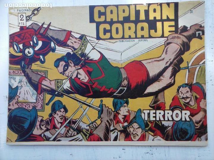 Tebeos: EL CAPITÁN CORAJE ORIGINAL TORAY 1958 COMPLETA 1 AL 44 IRANZO, SUELTA, VER TODAS LAS PORTADAS - Foto 85 - 105026571