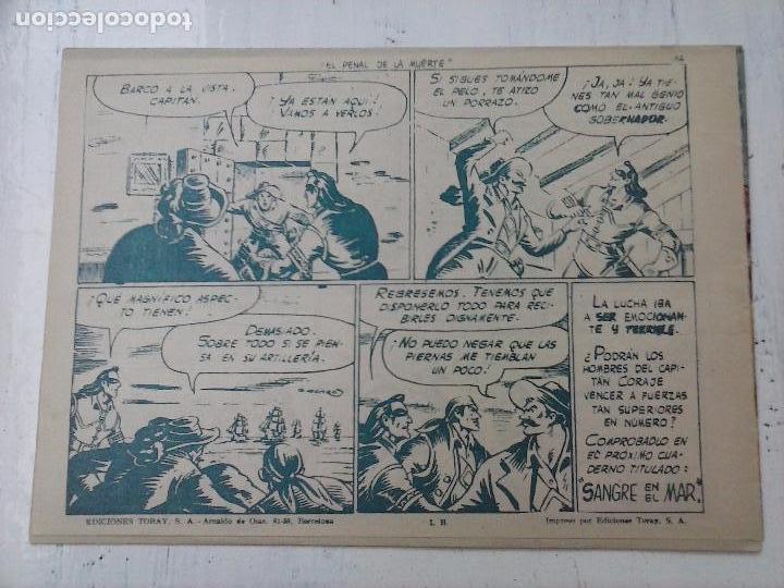 Tebeos: EL CAPITÁN CORAJE ORIGINAL TORAY 1958 COMPLETA 1 AL 44 IRANZO, SUELTA, VER TODAS LAS PORTADAS - Foto 95 - 105026571