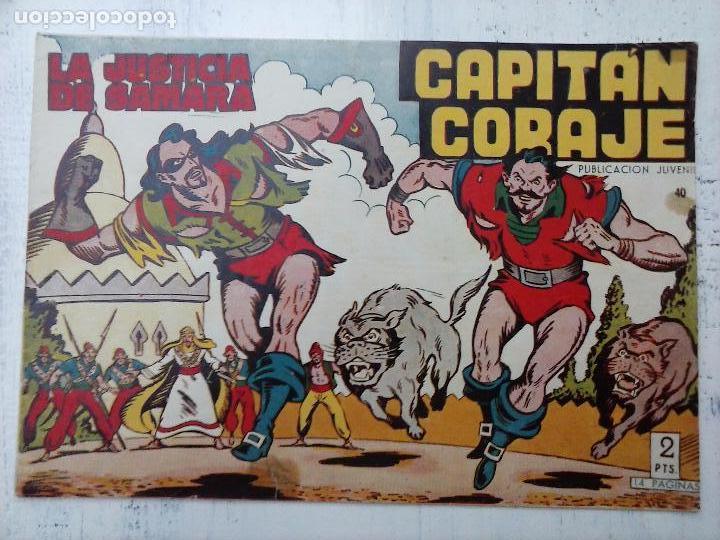 Tebeos: EL CAPITÁN CORAJE ORIGINAL TORAY 1958 COMPLETA 1 AL 44 IRANZO, SUELTA, VER TODAS LAS PORTADAS - Foto 107 - 105026571