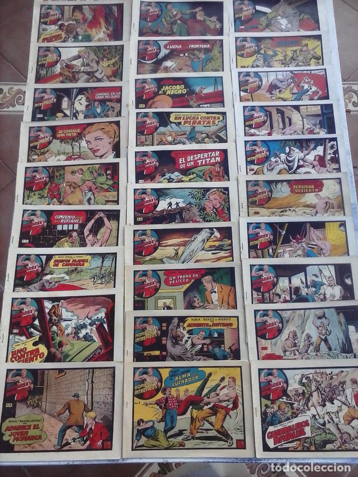 YORIK BRAZO DE HIERRO - HOMBRES INTRÉPIDOS COMPLETA ORIGINAL TORAY - MUY BUEN ESTADO - VER PORTADAS (Tebeos y Comics - Toray - Otros)