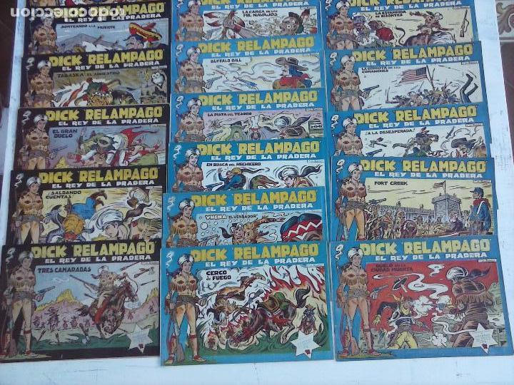 Tebeos: DICK RELAMPAGO EL REY DE LA PRADERA ORIGINAL COMPLETA 1959 TORAY - G.IRANZO, VER PORTADAS Y MÁS - Foto 5 - 105125851