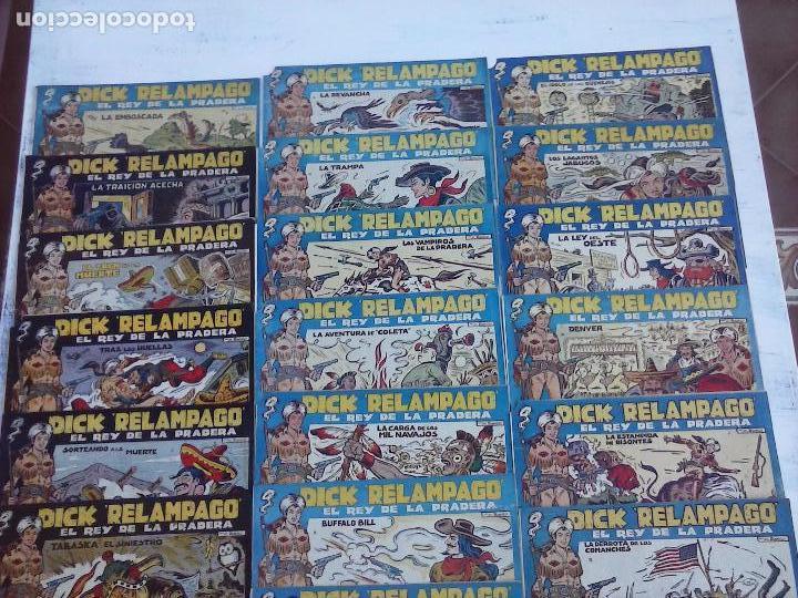 Tebeos: DICK RELAMPAGO EL REY DE LA PRADERA ORIGINAL COMPLETA 1959 TORAY - G.IRANZO, VER PORTADAS Y MÁS - Foto 6 - 105125851