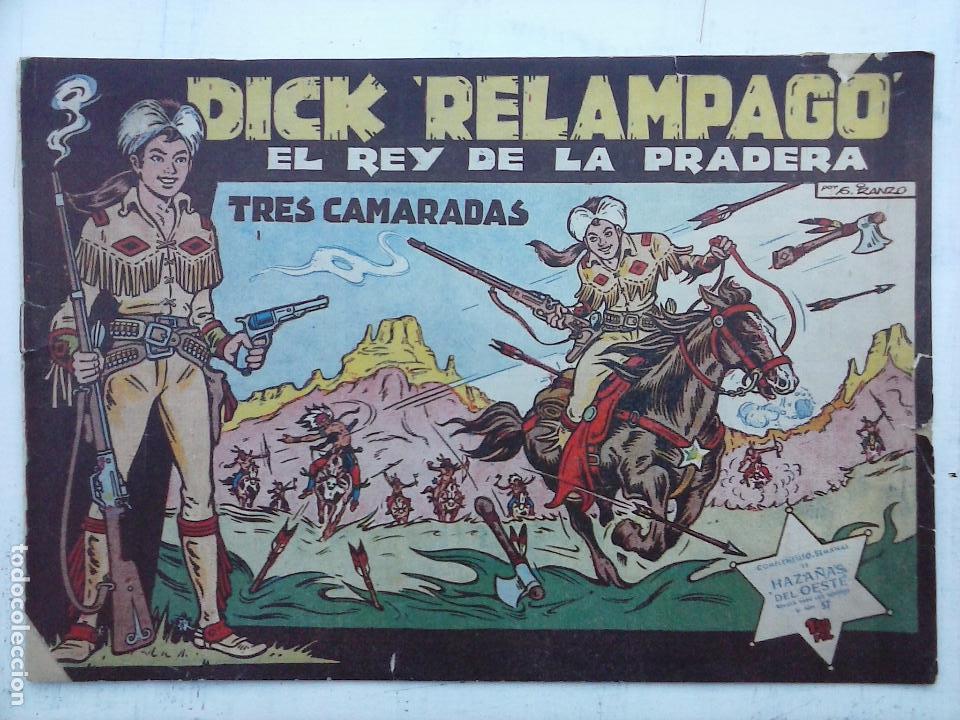 Tebeos: DICK RELAMPAGO EL REY DE LA PRADERA ORIGINAL COMPLETA 1959 TORAY - G.IRANZO, VER PORTADAS Y MÁS - Foto 7 - 105125851
