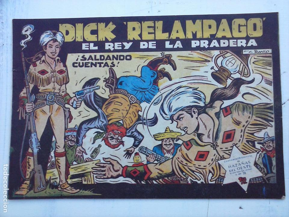 Tebeos: DICK RELAMPAGO EL REY DE LA PRADERA ORIGINAL COMPLETA 1959 TORAY - G.IRANZO, VER PORTADAS Y MÁS - Foto 8 - 105125851
