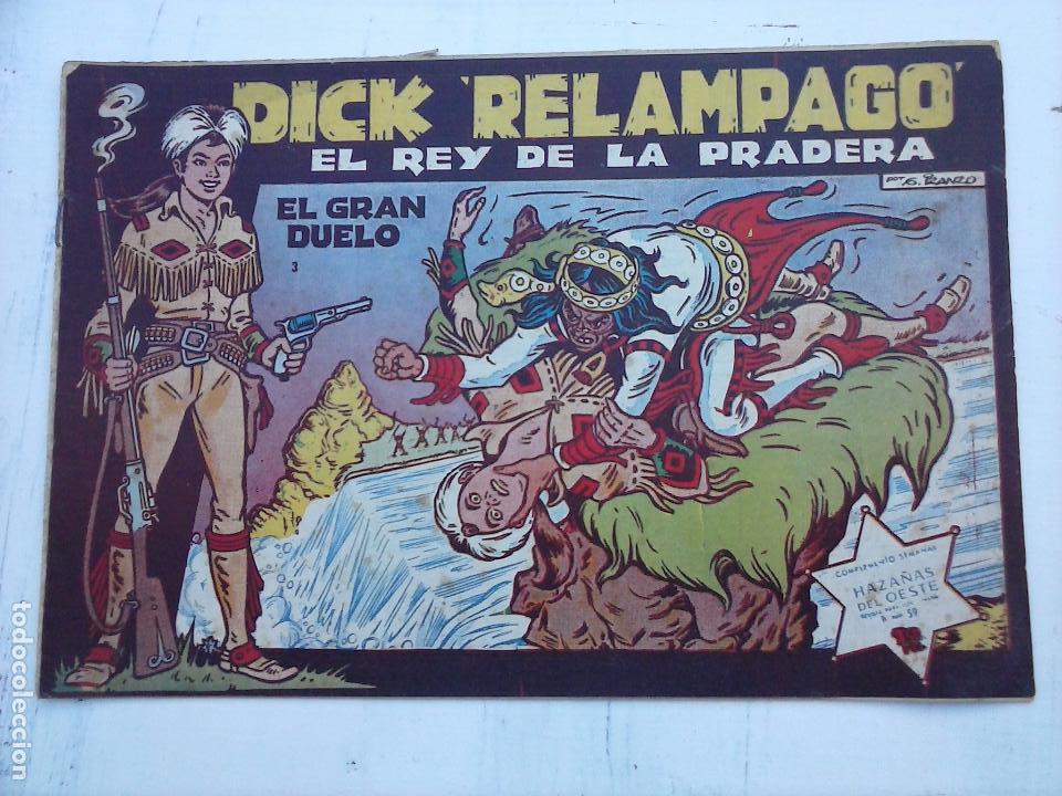 Tebeos: DICK RELAMPAGO EL REY DE LA PRADERA ORIGINAL COMPLETA 1959 TORAY - G.IRANZO, VER PORTADAS Y MÁS - Foto 9 - 105125851