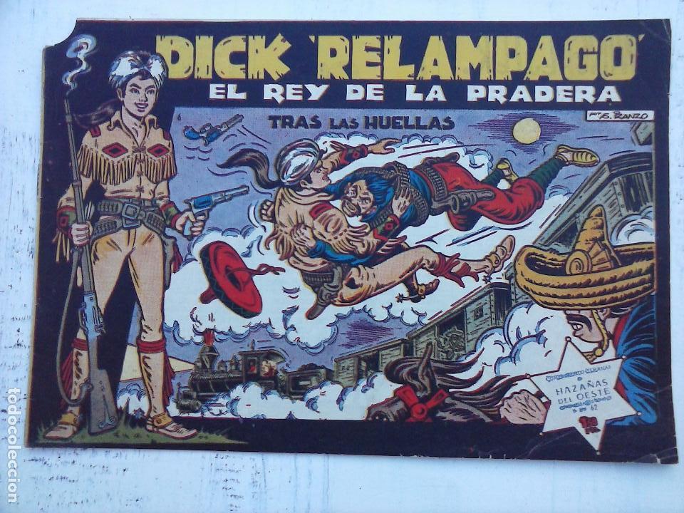 Tebeos: DICK RELAMPAGO EL REY DE LA PRADERA ORIGINAL COMPLETA 1959 TORAY - G.IRANZO, VER PORTADAS Y MÁS - Foto 10 - 105125851