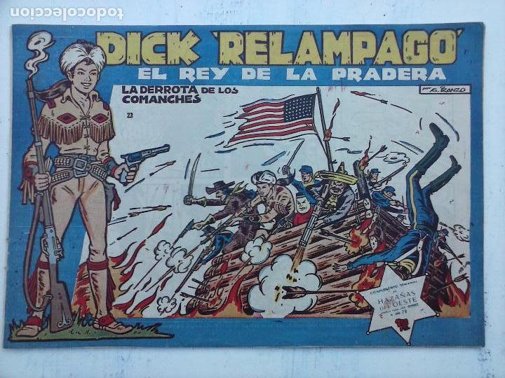Tebeos: DICK RELAMPAGO EL REY DE LA PRADERA ORIGINAL COMPLETA 1959 TORAY - G.IRANZO, VER PORTADAS Y MÁS - Foto 21 - 105125851