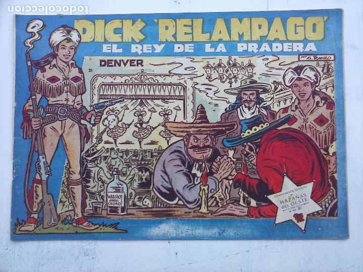 Tebeos: DICK RELAMPAGO EL REY DE LA PRADERA ORIGINAL COMPLETA 1959 TORAY - G.IRANZO, VER PORTADAS Y MÁS - Foto 28 - 105125851