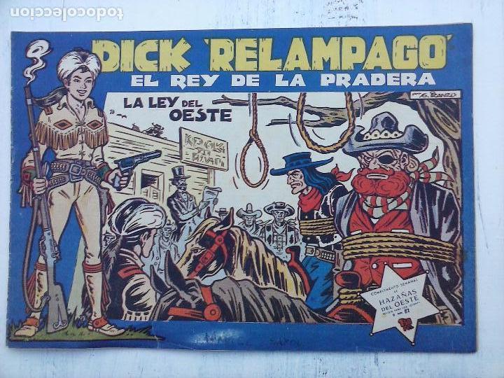 Tebeos: DICK RELAMPAGO EL REY DE LA PRADERA ORIGINAL COMPLETA 1959 TORAY - G.IRANZO, VER PORTADAS Y MÁS - Foto 31 - 105125851