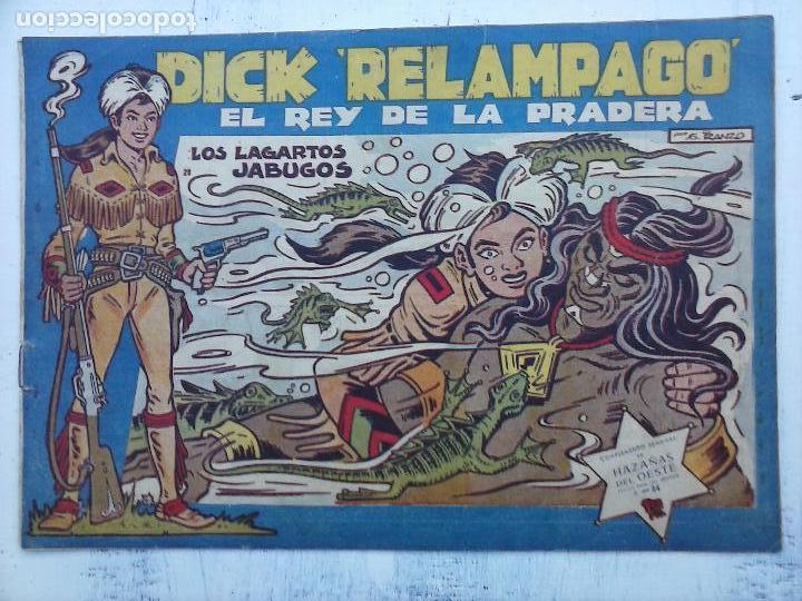 Tebeos: DICK RELAMPAGO EL REY DE LA PRADERA ORIGINAL COMPLETA 1959 TORAY - G.IRANZO, VER PORTADAS Y MÁS - Foto 34 - 105125851