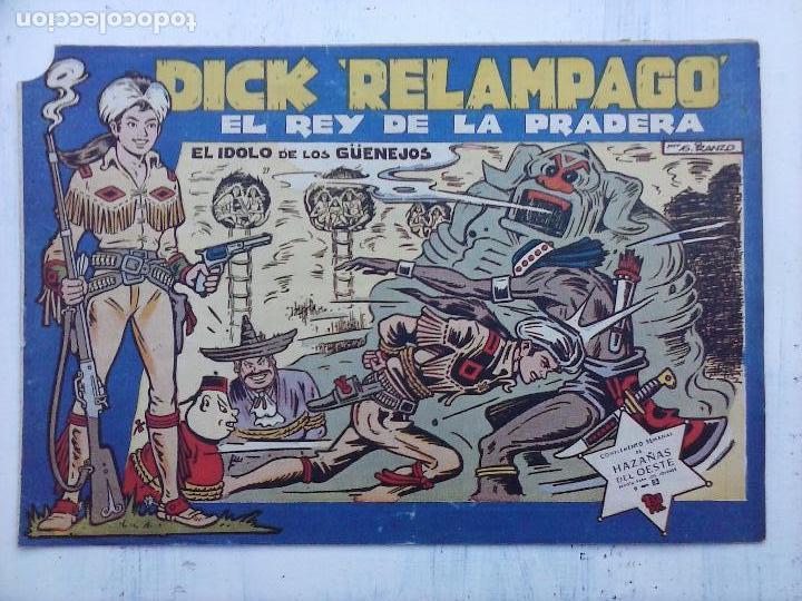 Tebeos: DICK RELAMPAGO EL REY DE LA PRADERA ORIGINAL COMPLETA 1959 TORAY - G.IRANZO, VER PORTADAS Y MÁS - Foto 45 - 105125851