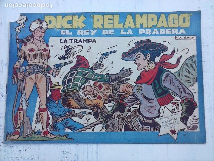 Tebeos: DICK RELAMPAGO EL REY DE LA PRADERA ORIGINAL COMPLETA 1959 TORAY - G.IRANZO, VER PORTADAS Y MÁS - Foto 55 - 105125851