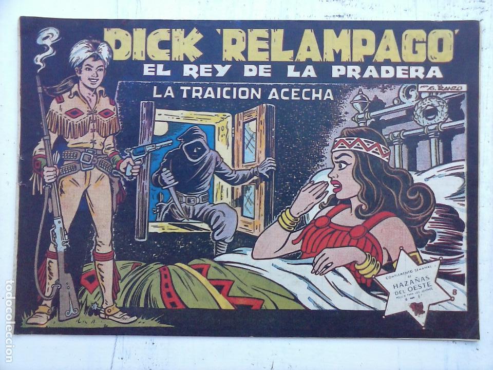 Tebeos: DICK RELAMPAGO EL REY DE LA PRADERA ORIGINAL COMPLETA 1959 TORAY - G.IRANZO, VER PORTADAS Y MÁS - Foto 56 - 105125851