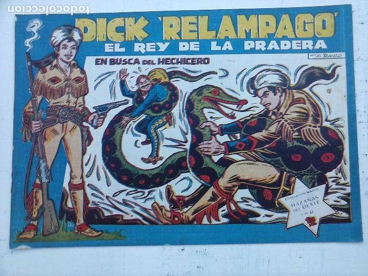 Tebeos: DICK RELAMPAGO EL REY DE LA PRADERA ORIGINAL COMPLETA 1959 TORAY - G.IRANZO, VER PORTADAS Y MÁS - Foto 62 - 105125851
