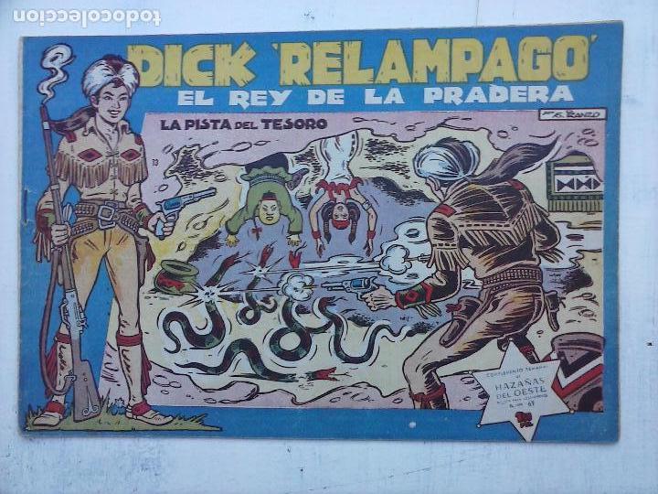Tebeos: DICK RELAMPAGO EL REY DE LA PRADERA ORIGINAL COMPLETA 1959 TORAY - G.IRANZO, VER PORTADAS Y MÁS - Foto 65 - 105125851