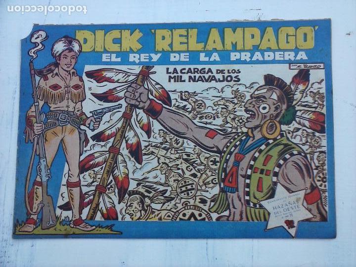Tebeos: DICK RELAMPAGO EL REY DE LA PRADERA ORIGINAL COMPLETA 1959 TORAY - G.IRANZO, VER PORTADAS Y MÁS - Foto 67 - 105125851