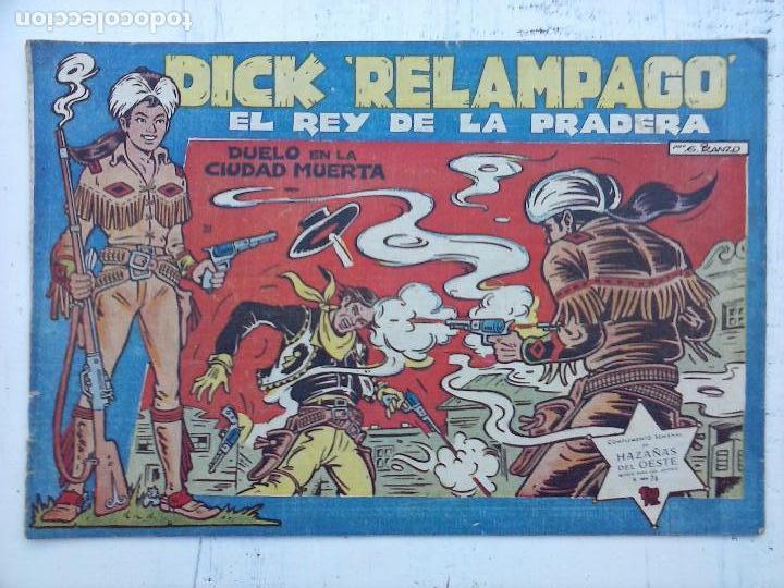 Tebeos: DICK RELAMPAGO EL REY DE LA PRADERA ORIGINAL COMPLETA 1959 TORAY - G.IRANZO, VER PORTADAS Y MÁS - Foto 68 - 105125851