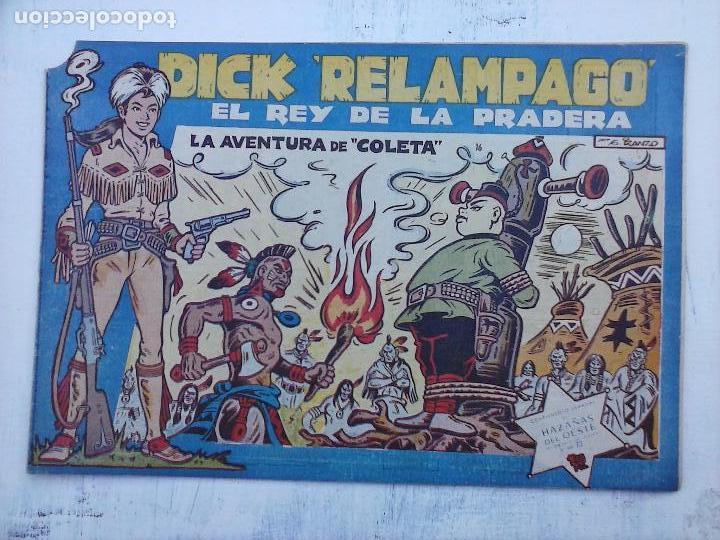 Tebeos: DICK RELAMPAGO EL REY DE LA PRADERA ORIGINAL COMPLETA 1959 TORAY - G.IRANZO, VER PORTADAS Y MÁS - Foto 74 - 105125851