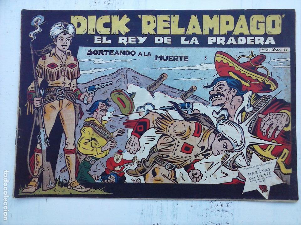 Tebeos: DICK RELAMPAGO EL REY DE LA PRADERA ORIGINAL COMPLETA 1959 TORAY - G.IRANZO, VER PORTADAS Y MÁS - Foto 78 - 105125851