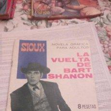 Tebeos: SIOUX NÚMERO 70.LA VUELTA DE BART SHANON EDICIONES TORAY (1966). Lote 105169227