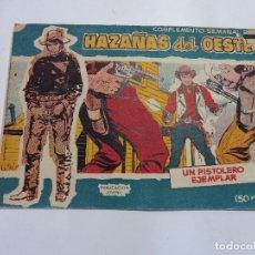 Tebeos: HAZAÑAS DEL OESTE Nº 9 TORAY 1959 ORIGINAL. Lote 105791327