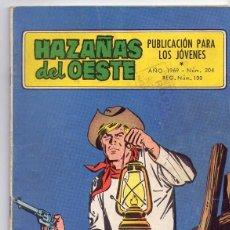 Tebeos: HAZAÑAS DEL OESTE *** NÚMERO 204 AÑO 1969. Lote 107323707