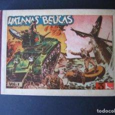Tebeos: HAZAÑAS BELICAS -ALBUM-(1949,TORAY) COMPLETA : 1 AL 8. Lote 107566835