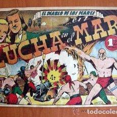 Tebeos: EL DIABLO DE LOS MARES Nº 63 LUCHA EN EL MAR - EDICIONES TORAY 1947. Lote 109752035