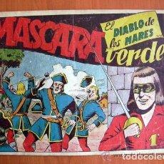 Tebeos: EL DIABLO DE LOS MARES Nº 57 MÁSCARA VERDE - EDICIONES TORAY 1947. Lote 109754603