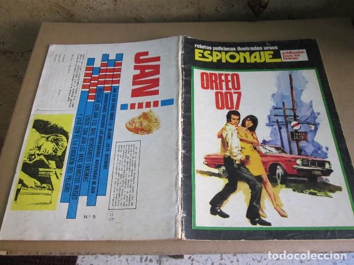 ESPIONAJE RELATOS ILUSTRADOS URSUS, ORFEO 007 (Tebeos y Comics - Toray - Espionaje)