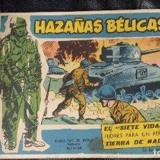 Tebeos: HAZAÑAS BELICAS TOMO ENCUADERNADO CON 9 COMICS. Lote 110869095
