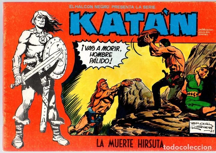 KATÁN. LA MUERTE HIRSUTA. Nº 7. URSUS EDICIONES. AÑO 1980 (Tebeos y Comics - Toray - Katan)
