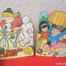 Tebeos: LOTE 2 CUENTO GUENDALINA TROQUELADO CUENTOS TORAY 1965 66-22 LA BICICLETA DE PAPA-CALABAZA AMARILLA. Lote 111336047