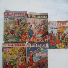 Tebeos: BILL KRAKER ORIGINALES NºS - 1,3,6,9,19 - EDITORIAL TORAY 1958 DIBUJO FERRANDO - 24 PÁGINAS UNIDAD. Lote 111820831