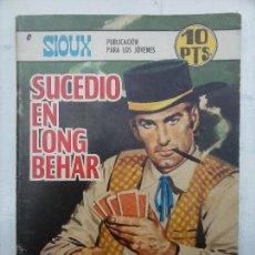 Tebeos: SIOUX Nº 108 TORAY 1968 - DIBUJOS LÓPEZ ESPÍ - PORTADA DE LONGARÓN. Lote 112372271