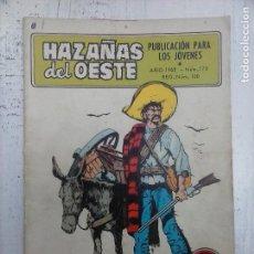 Tebeos: HAZAÑAS DEL OESTE Nº 170 - EDI. TORAY 1968 - DIBUJOS CÉSAR Y F. CABRERIZO. Lote 112374083